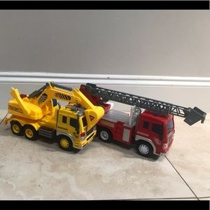 Toys set of trucks